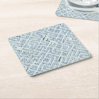 fantasy dungeon maps 3 square paper coaster
