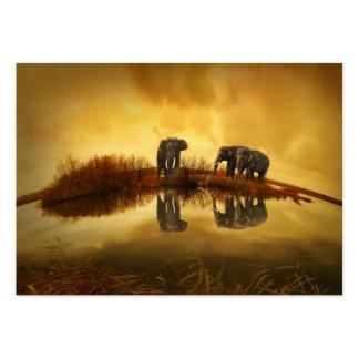 Fantasy Elephant Large Business Card