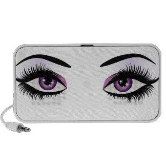 Fantasy eyes makeup iPod speaker