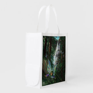 Fantasy Fairy Castle Reusable Grocery Bag