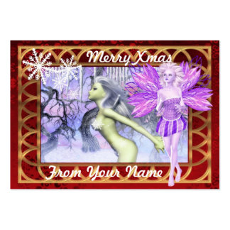 fantasy fairy personalized Christmas tag Pack Of Chubby Business Cards