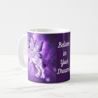 Fantasy Fairy Winged Clydesdale Horse Coffee Mug