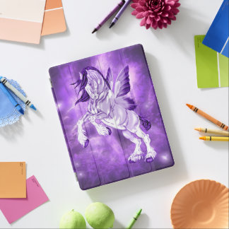 Fantasy Fairy Winged Clydesdale Horse iPad Cover