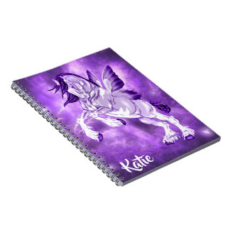 Fantasy Fairy Winged Clydesdale Horse Notebook