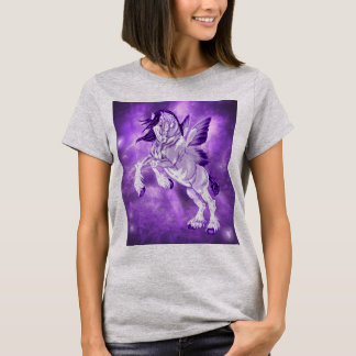 Fantasy Fairy Winged Clydesdale Horse T-Shirt