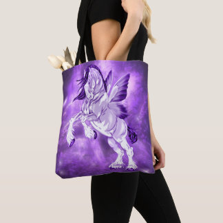 Fantasy Fairy Winged Clydesdale Horse Tote Bag