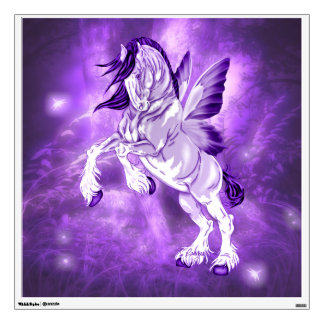 Fantasy Fairy Winged Clydesdale Horse Wall Sticker