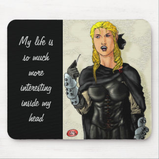 Fantasy Female Elfen Rogue Mouse Pad