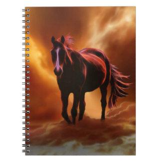 fantasy fire horse notebooks