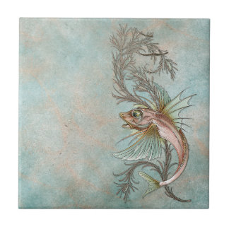 Fantasy Fish Art Nouveau Tile
