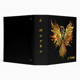 Fantasy Flaming Phoenix Binder