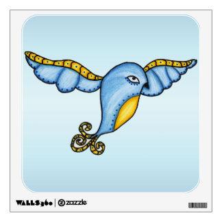 Fantasy Flying Blue Bird Wall Decal