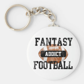Fantasy Football Addict Basic Round Button Keychain