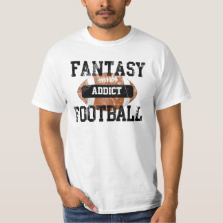 Fantasy Football Addict, Grunge Varsity Style T-Shirt