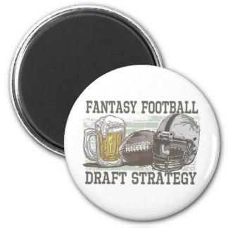 Fantasy Football Draft Strategy Fridge Magnet