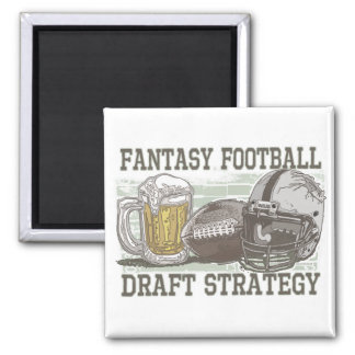 Fantasy Football Draft Strategy Refrigerator Magnets