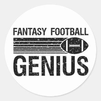 Fantasy Football Genius 1 Round Stickers