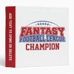 Fantasy Football League Champion 3 Ring Binder
