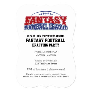 Fantasy Football League Champion Card