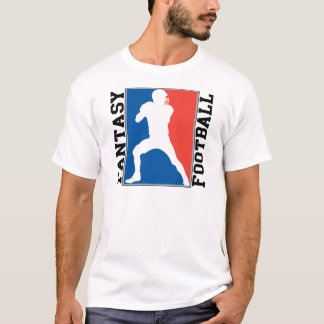 Fantasy Football, red white and blue Logo T-Shirt