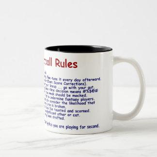 Fantasy Football Rules Two-Tone Coffee Mug