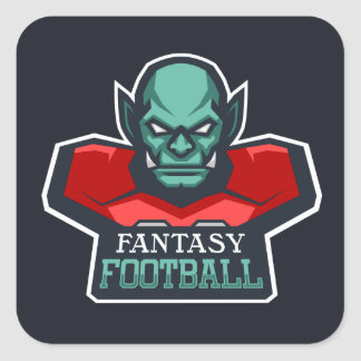 Fantasy Football Square Sticker
