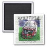 Fantasy Football Zen Master Gear Square Magnet