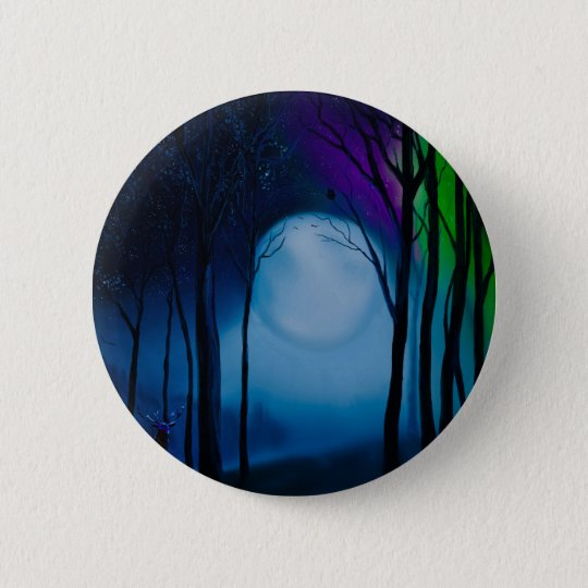 Fantasy forest art 2 inch round button