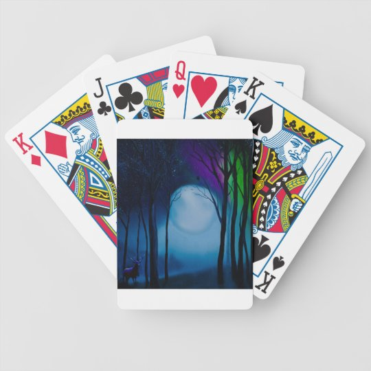 Fantasy forest art bicycle playing cards