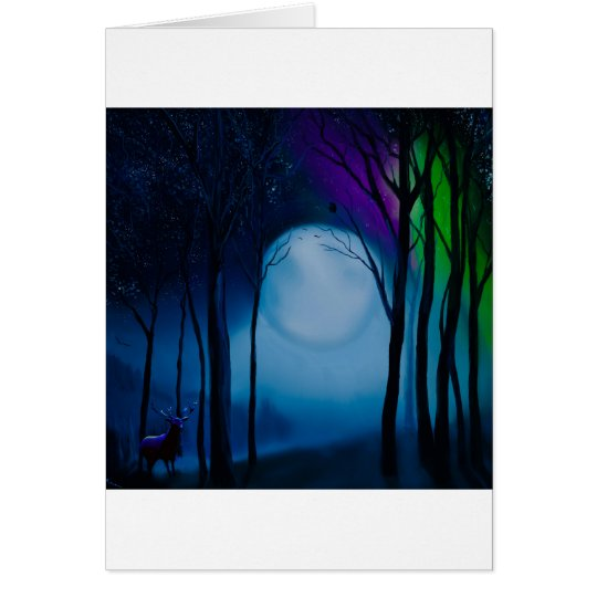 Fantasy forest art card