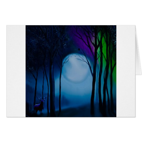 Fantasy forest art card