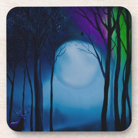 Fantasy forest art coaster
