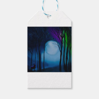 Fantasy forest art gift tags