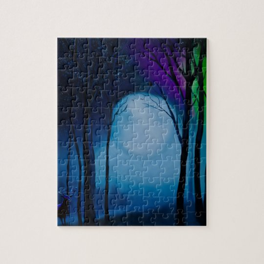 Fantasy forest art jigsaw puzzle