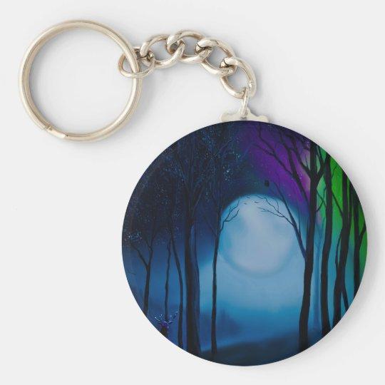 Fantasy forest art keychain