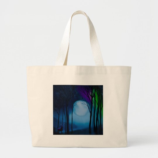 Fantasy forest art large tote bag
