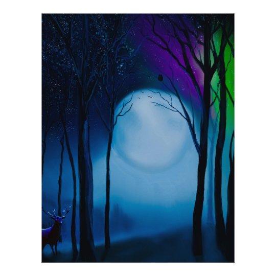 Fantasy forest art letterhead