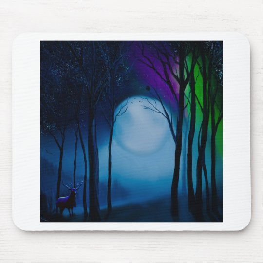 Fantasy forest art mouse pad