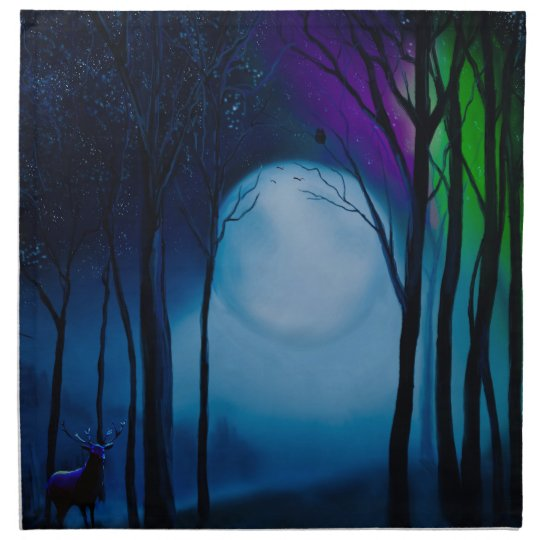 Fantasy forest art napkin