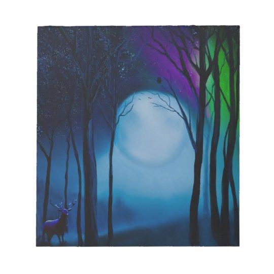 Fantasy forest art notepad