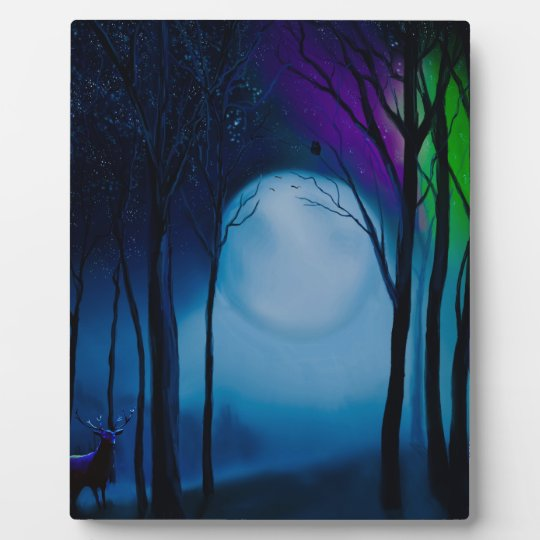 Fantasy forest art plaque