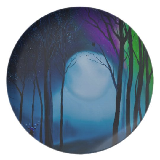 Fantasy forest art plate
