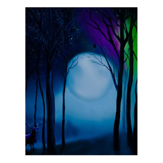 Fantasy forest art postcard