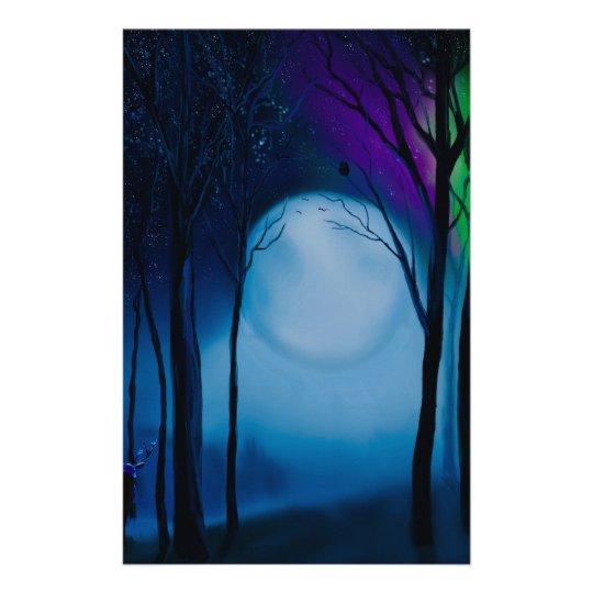 Fantasy forest art stationery