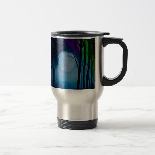 Fantasy forest art travel mug