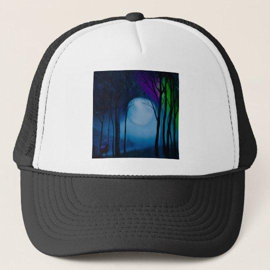 Fantasy forest art trucker hat
