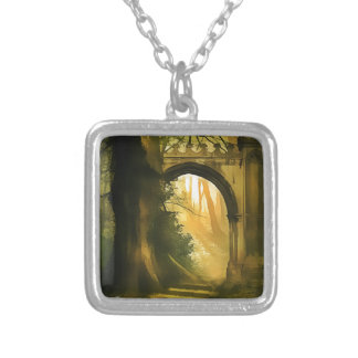 FANTASY FOREST SILVER PLATED NECKLACE