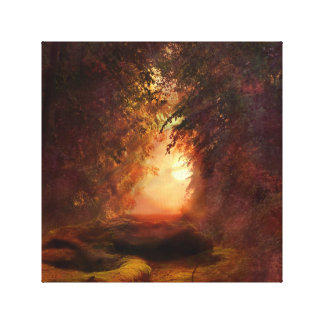 Fantasy Forest Sunset Canvas Print