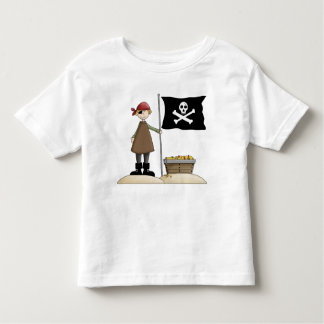 Fantasy Fun Pirate with Skull Flag T-Shirt