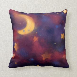 Fantasy Galaxy Moon Throw Pillow
